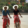 Dai Girl Cyclists in Xishuangbanna, China