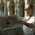 Reading the News in Havana, Cuba