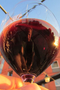 Reflecting on a Glass of Red Wine